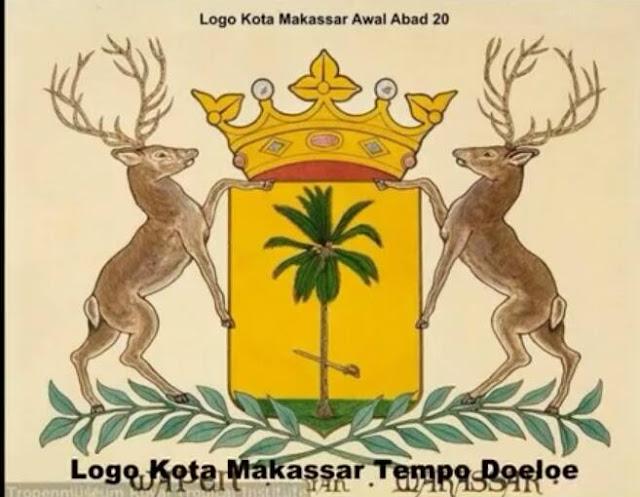 Logo Kota Makassar Awal Abad 20 (Logo Kota Makassar Tempo Doeloe