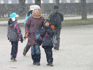Nevando en Múnich.