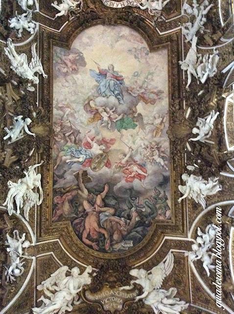 city tour roma portugues santa maria vitoria afresco - Igreja Santa Maria della Vittoria