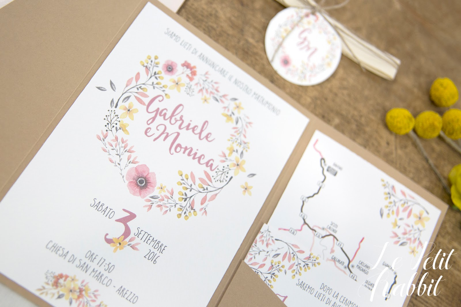 abbastanza Watercolor Flowers Wedding Suite UY93