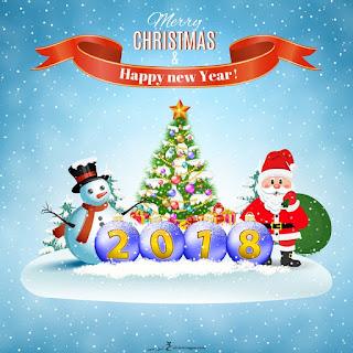 تهنئة السنة الجديدة بابا نويل 2018