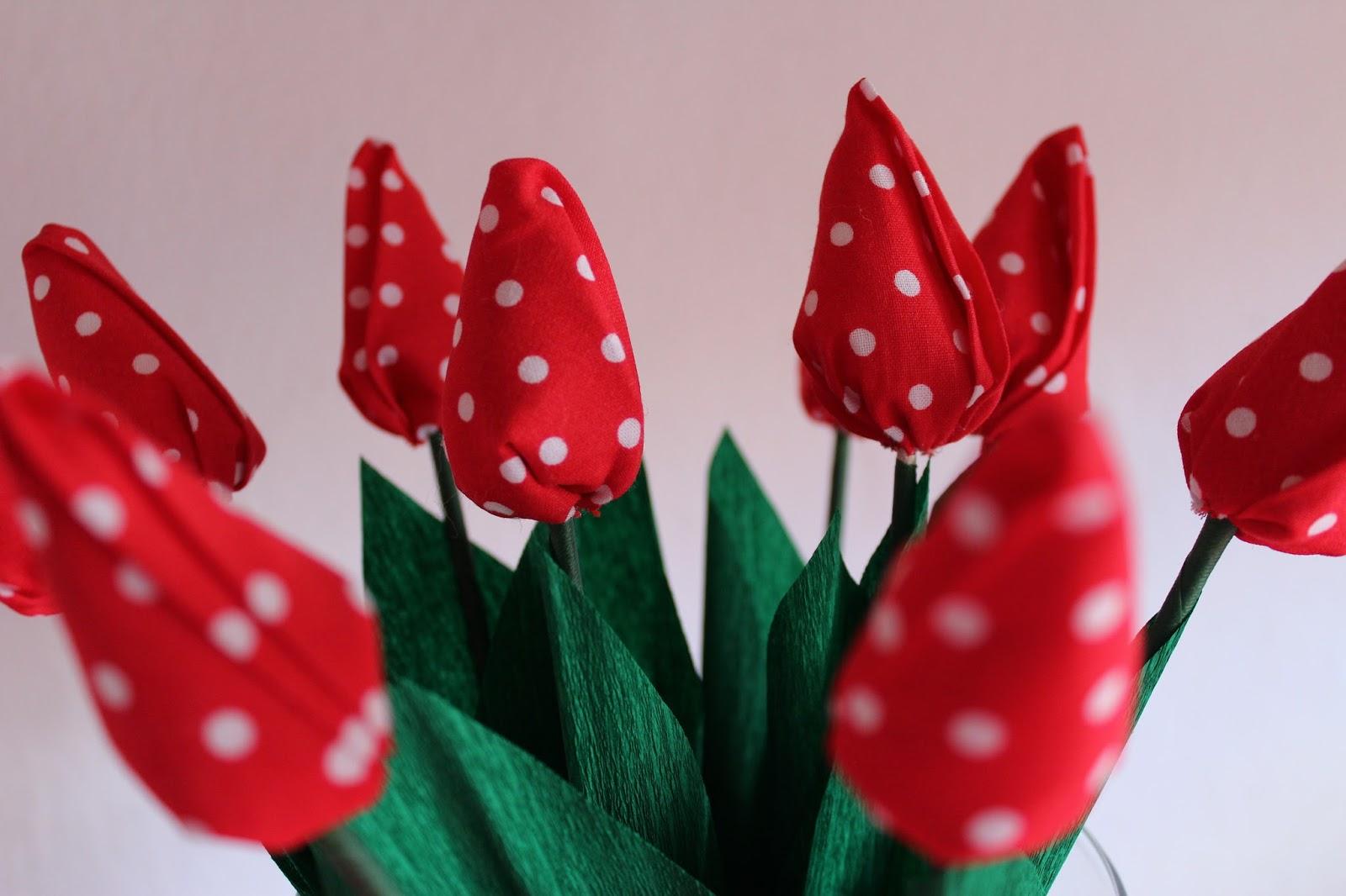 diy tulpen aus stoff ars vera e diy blog f r. Black Bedroom Furniture Sets. Home Design Ideas
