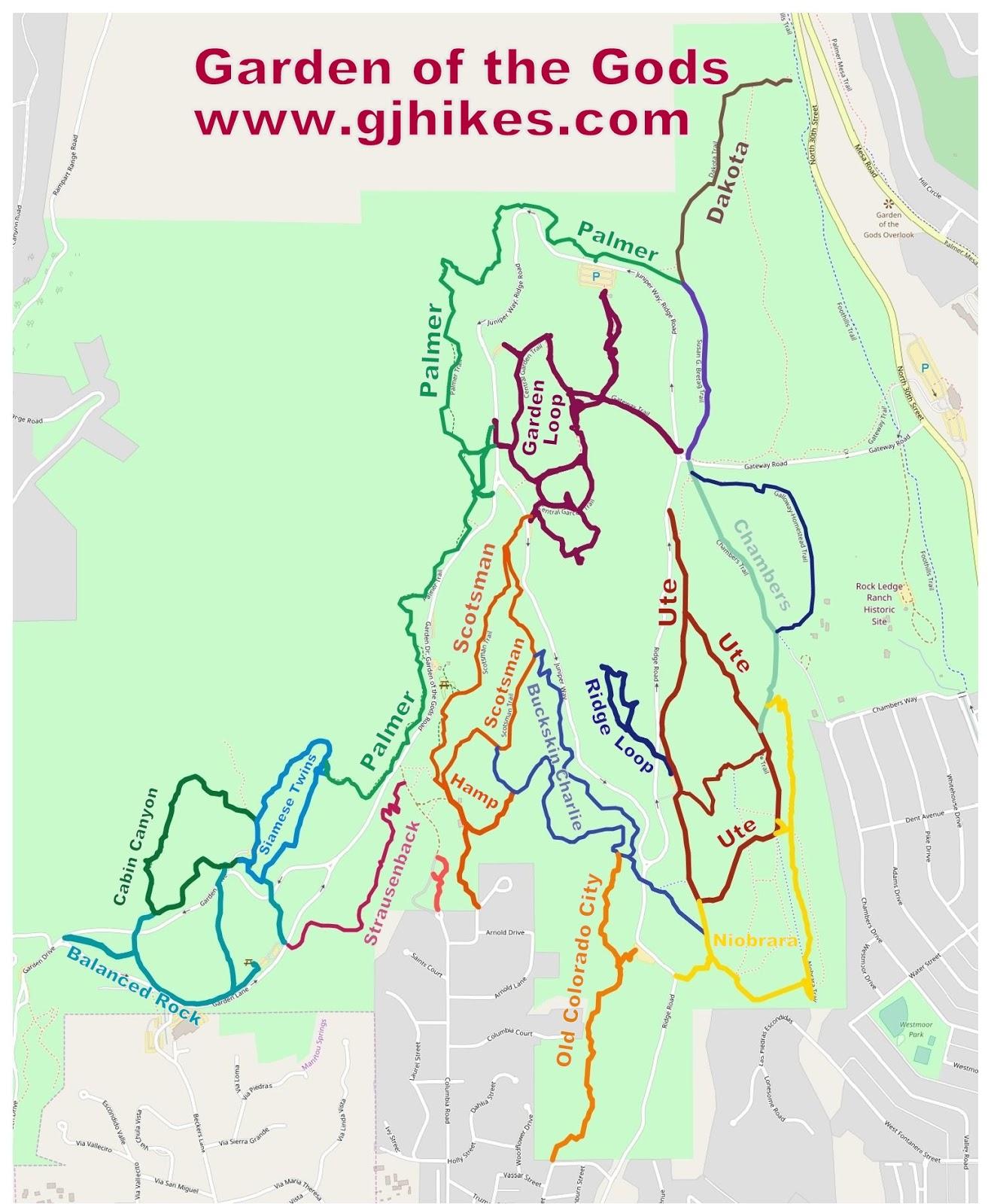 Gjhikes Com Ute Trail