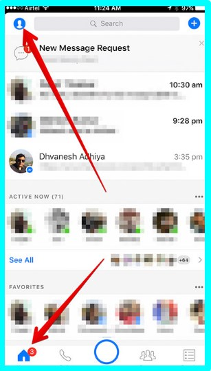 turn off facebook messenger sound ios