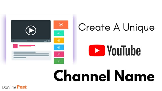 How To find a unique channel name for youtube