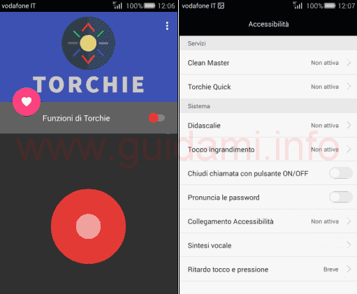 App Torchie per Android