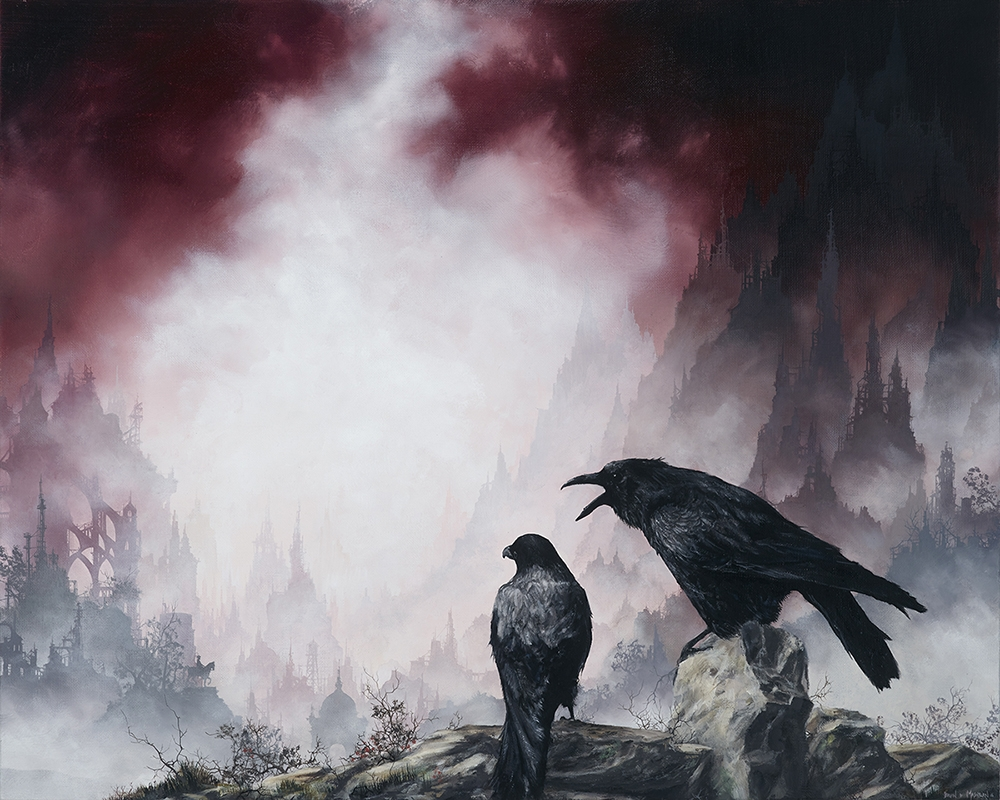 03-Crows-Brian-Mashburn-Architecture-in-Paintings-of-Urban-and-Industrial-Landscapes-www-designstack-co