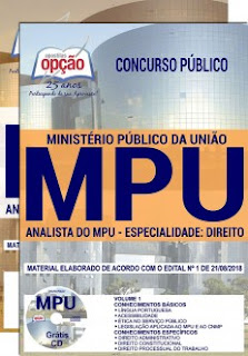download Apostila Concurso MPU 2018 PDF - Analista Direito