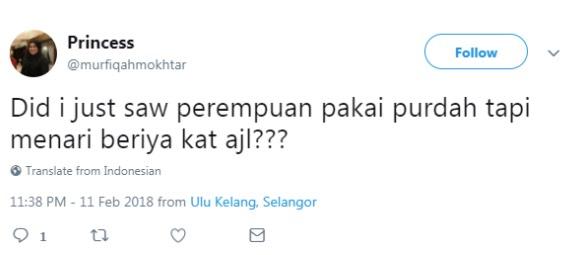 """Pakai Purdah, Menari Pula Di AJL Tanpa Rasa Malu"" - Netizen Kecam Beberapa Kejadian Yang Tidak Sepatutnya Berlaku Di AJL32"