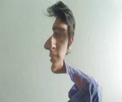 Ilusion óptica con personas