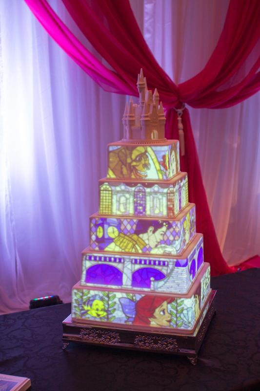 projection wedding cake mapping on wedding cake sonal j shah event 18806