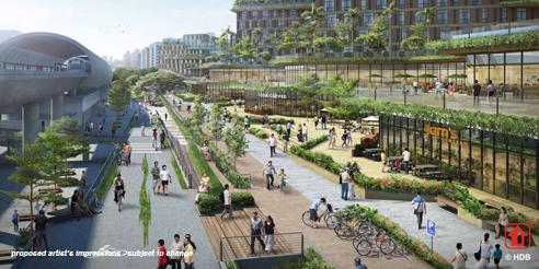 Pasir Ris MRT Mixed Development - Retail Walk Way