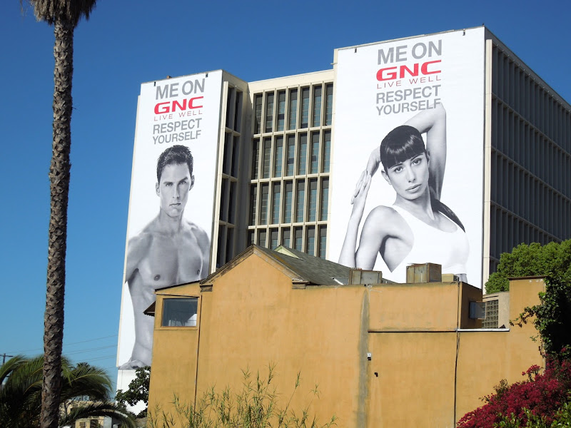 Giant GNC Respect Yourself billboards