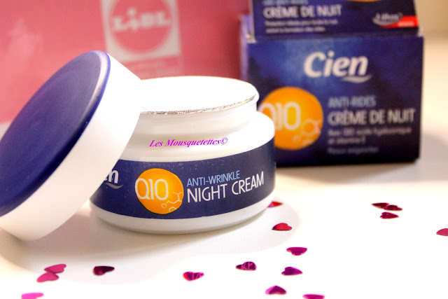 Crème nuit anti-ride Q10 - Cien by Lidl - Blog beauté Les Mousquetettes©