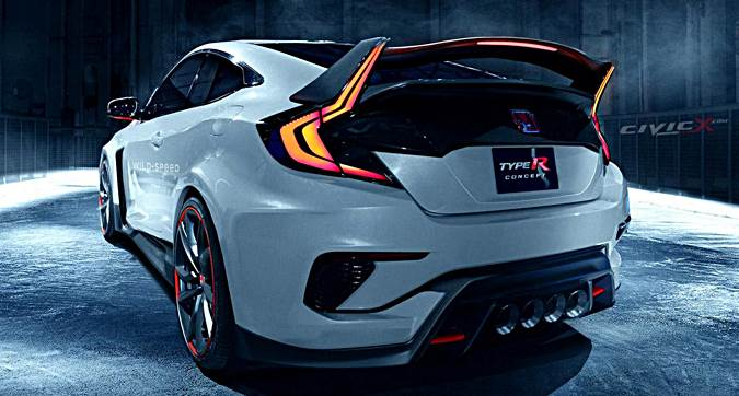 2018 Honda Civic Type R Rendered - AUTOCAR REGENERATION