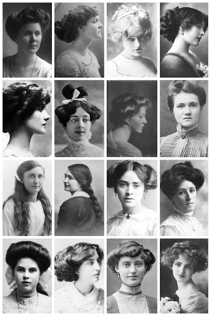 Vintage Portraits Depict Women S Hairstyles From The