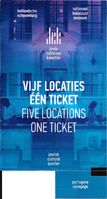 Ticket voor het Joods Historisch Museum