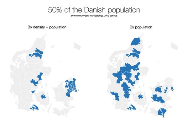 Half of the Danish population