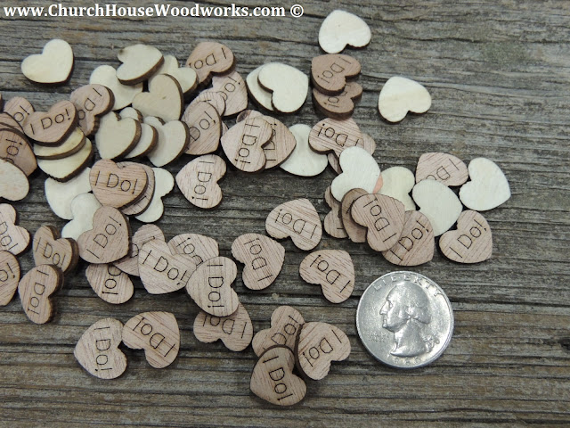 I Do Rustic Wedding Heart Wood Confetti- Rustic Wedding Table Decorations For Bridal Showers or Weddings- Barn Weddings, Country Weddings, Farm Weddings