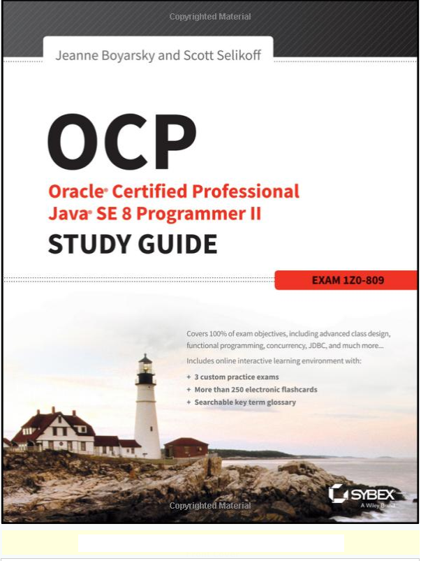 Top 5 Books Java 8 Certifications 1z0 808 Oca And 1z0 809 Ocp