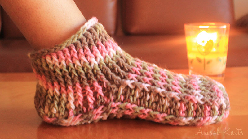 Crochet Slippers, crochet house shoes