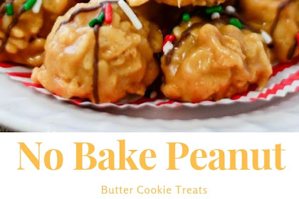 No Bake Peanut Butter Cookie Treats #christmas #dessert