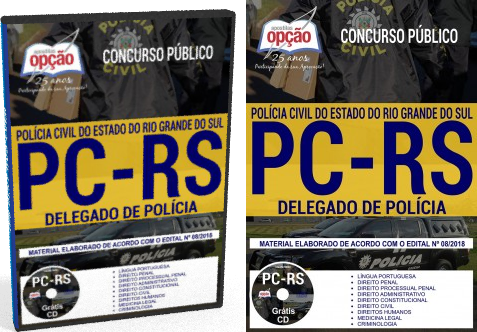 Apostila Polícia Civil do Rio Grande do Sul Delegado de Polícia 2018