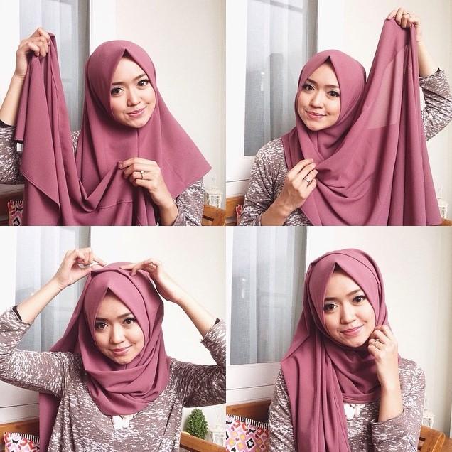 tutorial hijab pashmina untuk ke kampus cocok bagi anda yang ingin datang kuliah dengan tampilan fashion yang cantik dan modis selain untuk cewek muda yang