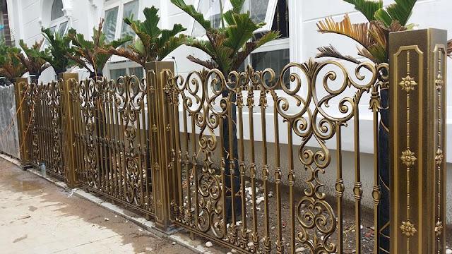 Hàng rào nhôm đúc dành cho biệt thự tân cổ điển
