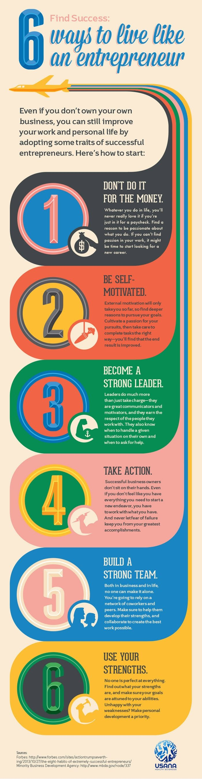 6 Ways to Live Like an Entrepreneur #Infographic