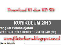 Download Pemetaan KI dan KD SD Kelas 3 Kurikulum 2013