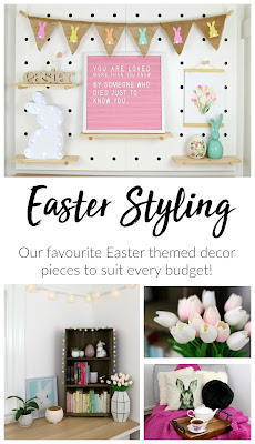 Easter Home Decor Styling – inspiration, easy easter decoration ideas, bright pastel home décor theme
