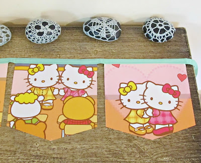 hello kitty bunting kawaii homewares domum vindemia nursery birthday party decoration