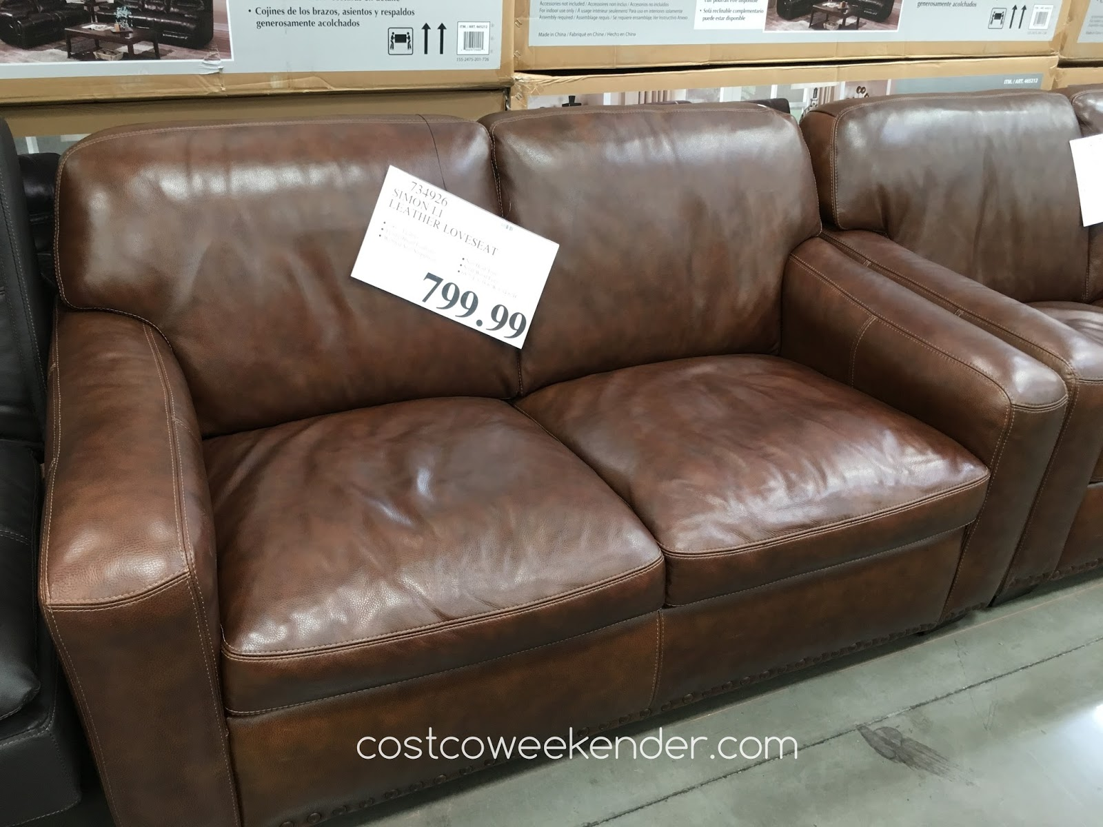 Simon Li Leather Sofa Costco Simon Li Hunter Leather Sofa TheSofa