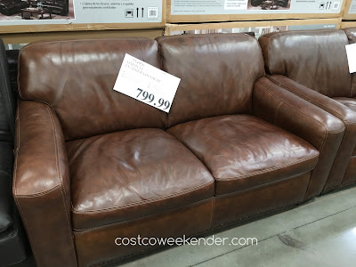 Furnish your living room with the Simon Li Leather Loveseat