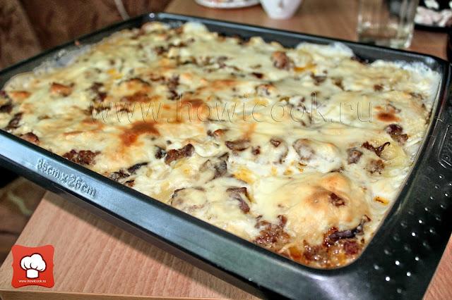 рецепт вкусной макаронной запеканки