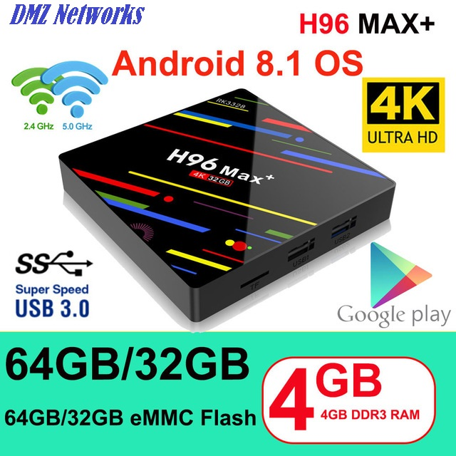 H96 Max+ RK3328 4 GB RAM 32GB ROM Android 8.1 TV Box Review