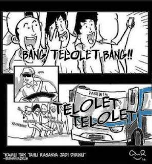 gambar komik lucu ngakak om telolet