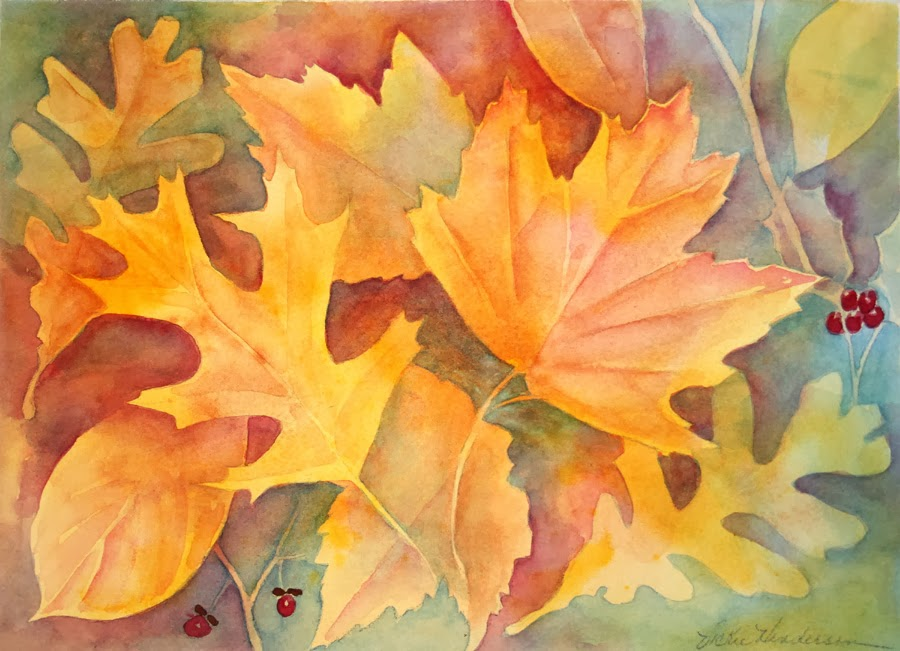 Vickie's Sketchbook: Fun with Fall Leaves--Creating Layers