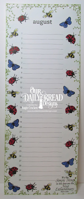 ODBD Butterfly and Bugs, ODBD Belles Vignes, ODBD Little Things, Calendar Page Designed by Angie Crockett