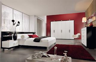 cuarto blanco rojo negro