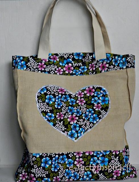 torba, torba na zakupy, torba z lnu, siatka na zakupy, ekotorba, duża torba, jak uszyć torbę na zakupy, e-fectyinspiracji