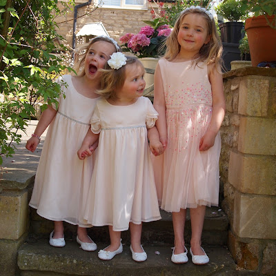 The girls absolutely love their floaty pink chiffon dresses from Marks and Spencer. They are perfect for all kinds of celebrations.