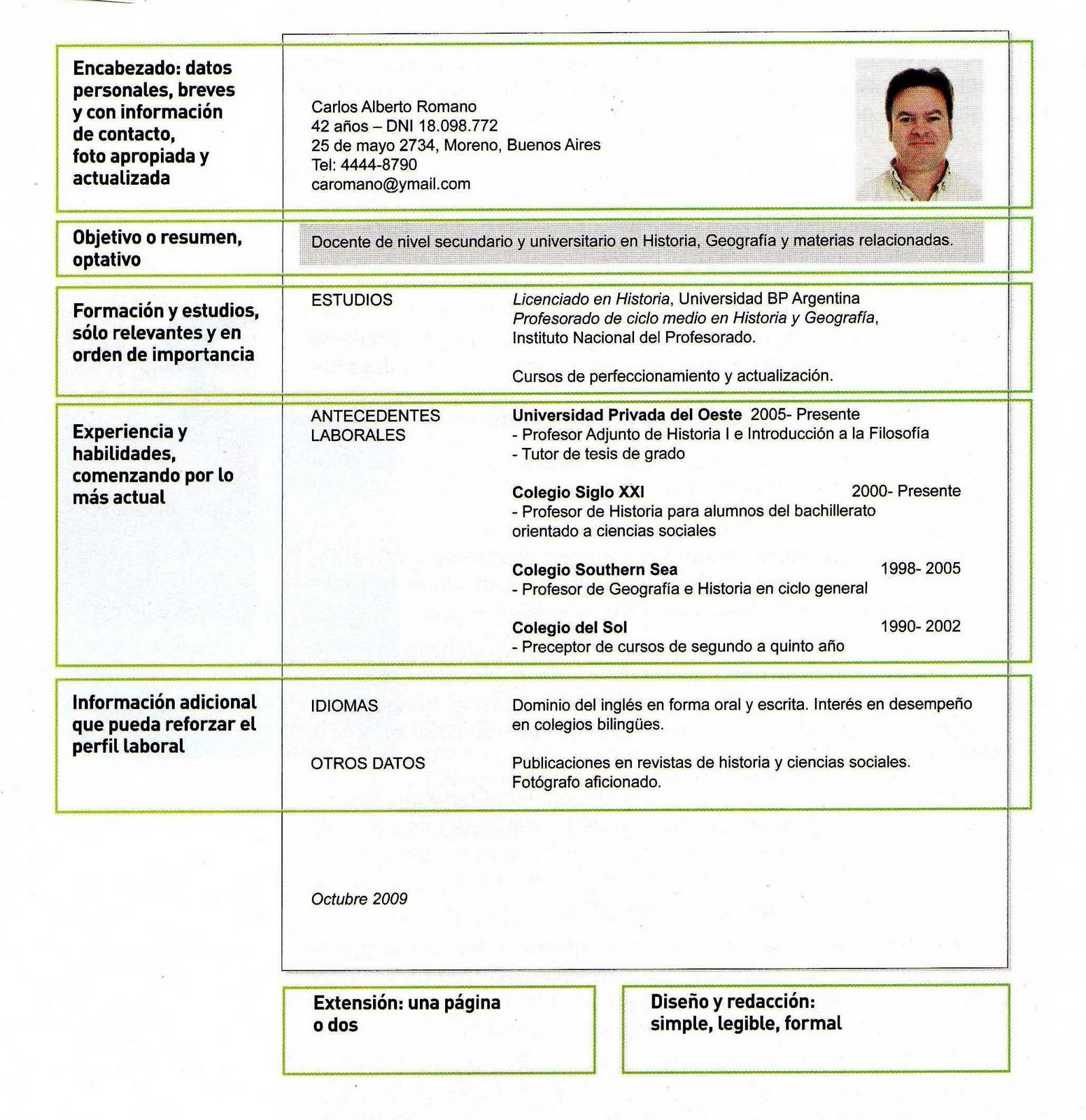 Ejemplos De Curriculum Vitae Que Poner En Objetivos | Resume Pdf ...
