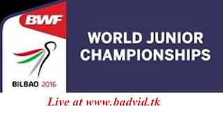 BWF World Junior Championships Eye-Level Cups 2016 live streaming
