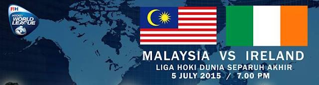Malaysia Vs Ireland Liga Hoki Dunia 2015