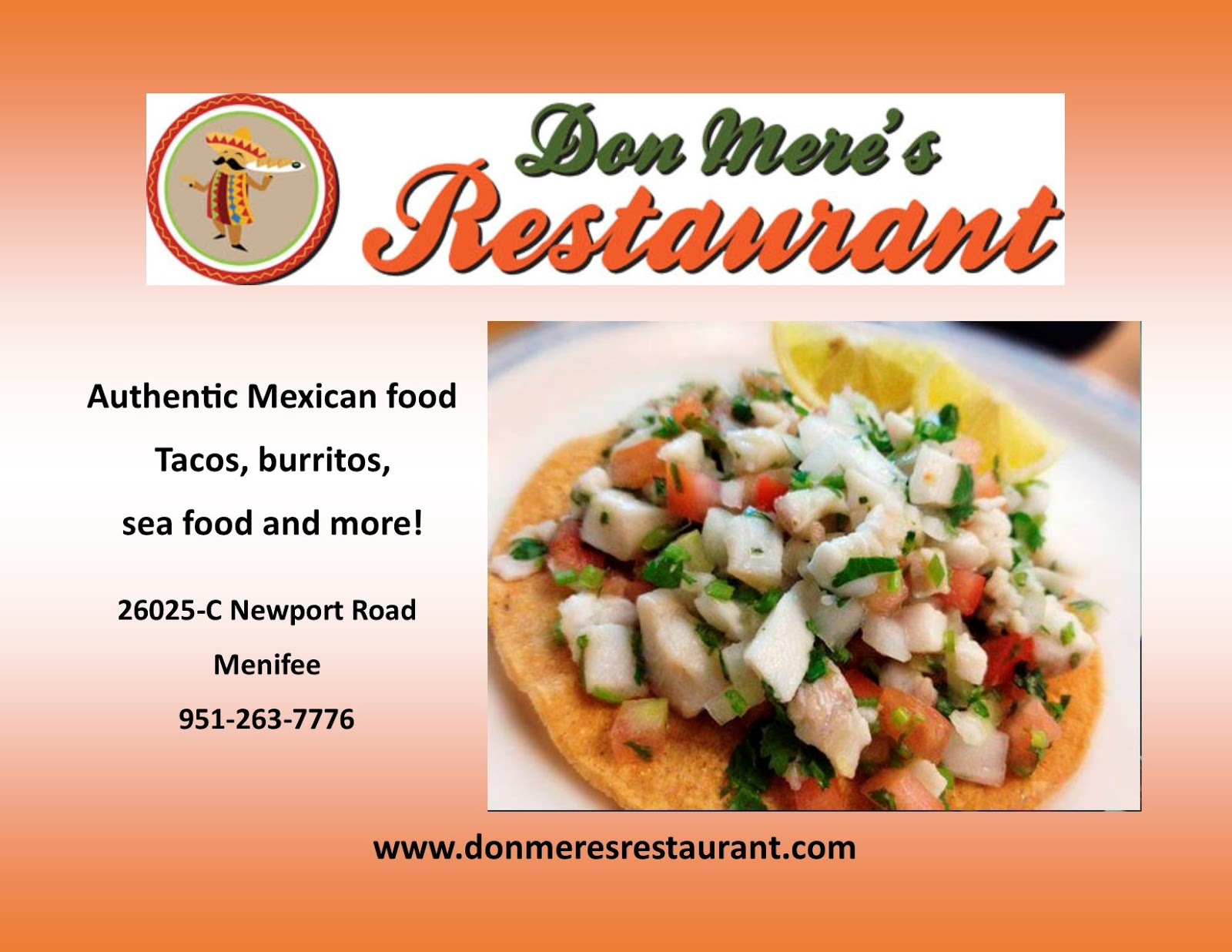 try don mere u0027s restaurant for the finest mexican food menifee 24 7
