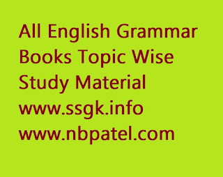All English Grammar Books Topic Wise Study Material