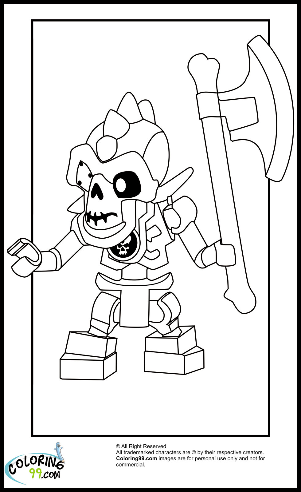This is an image of Delicate ninjago coloring picture