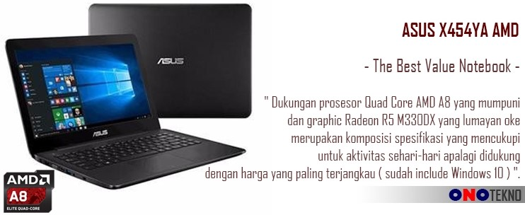 "THE BEST 10 NOTEBOOK ASUS 2017 "" ASUS X454YA """